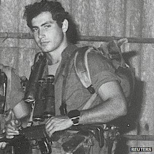 Benjamin Netanyahu photographed while serving in the Sayeret Matkal commando unit in the 1970s